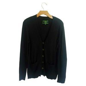 C Wonder Black Cardigan Sweater